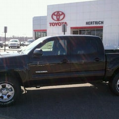 Photo taken at Hertrich Toyota of Milford by Bill V. on 3/5/2013