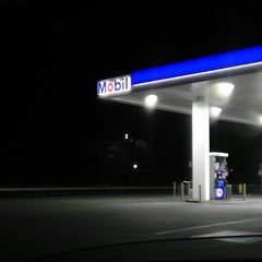 Photo taken at Mobil by J.R. on 1/16/2015
