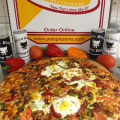 Photo taken at Pat's Pizzeria by Peter A. on 4/2/2013