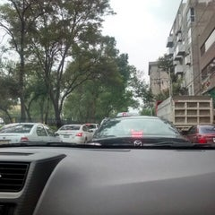 Photo taken at Av. Río Mixcoac by Jeanette on 9/12/2014