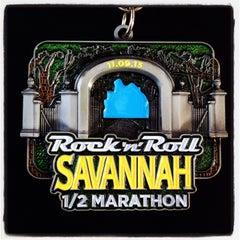 Photo taken at Rock n Roll Savannah Marathon Finish by Heather M. on 11/9/2013