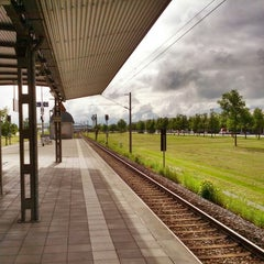Photo taken at S Flughafen Besucherpark by Sebastian on 6/14/2013