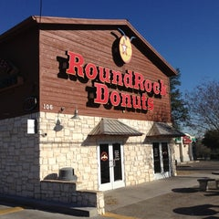 Photo taken at Round Rock Donuts by Mike B. on 12/12/2012