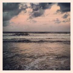 Photo taken at Praia Da Costa by Alex R. on 12/7/2012