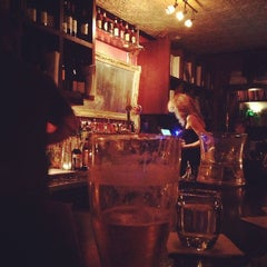 Photo taken at Justine's Brasserie by Lisa M. on 12/15/2012