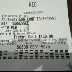 Photo taken at Rio Casino Sports Book by Boy R. on 3/15/2013