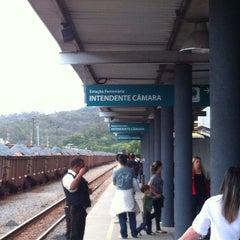 Photo taken at Estação Ferroviária Intendente Câmara (EFVM) by Rafael L. on 8/17/2014