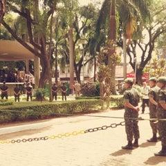 Photo taken at Largo do Riachuelo by Thassya A. on 2/21/2014
