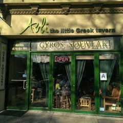 Photo taken at Avli Little Greek Tavern by Brian K. on 4/20/2013