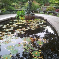 Photo taken at Central Park - Conservatory Garden by Alkaceq on 10/8/2012
