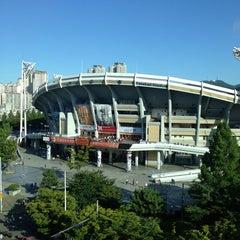 Photo taken at 사직야구장 (Sajik Baseball Stadium) by Kawa T. on 7/17/2013