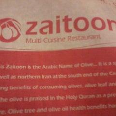 Photo taken at Zaitoon Restaurant by Kush T. on 10/19/2012