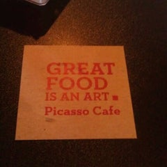 Photo taken at Picasso Café by Rebecca C. on 2/2/2013