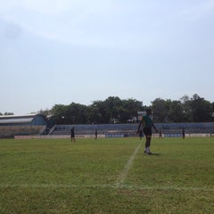 Photo taken at Stadion Wijayakusuma Cilacap by Fachrul P. on 10/21/2014