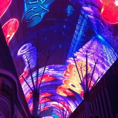 Photo taken at Fremont Street Experience by Enrique V. on 4/9/2013