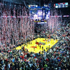 Photo taken at Moda Center at The Rose Quarter by Aaron L. on 12/21/2012