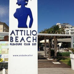 Photo taken at Attilio Beach Pleasure Club by Pier Luca S. on 5/18/2013