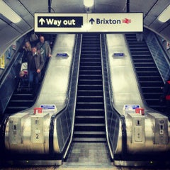 Photo taken at Brixton London Underground Station by Gbenga M. on 4/13/2013