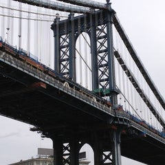 Photo taken at Manhattan Bridge by Stacey C. on 5/14/2013