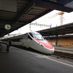 Photo taken at Gare de Genève Cornavin by Raiza Melissa M. on 10/7/2012