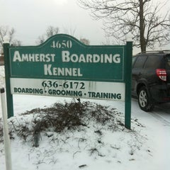 Photo taken at Amherst Boarding Kennel by Mike P. on 2/17/2013