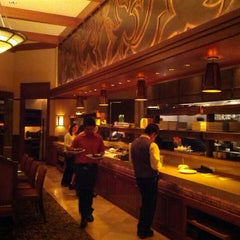 Photo taken at Westbank Grill at Four Seasons Resort Jackson Hole by Tom B. on 2/16/2013