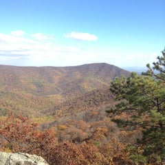 Photo taken at Bearfence Mountain Parking by Dale D. on 10/20/2012
