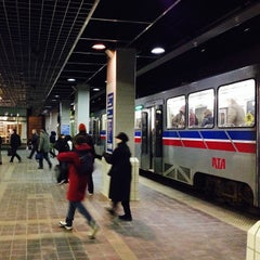 Photo taken at RTA Tower City - Public Square Rapid Station by Patrick S. on 1/16/2014
