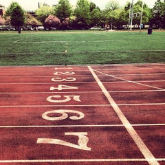 Photo taken at McCarren Park Track by Ron V. on 5/10/2013