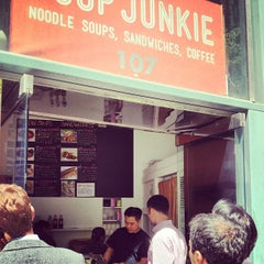 Photo taken at Soup Junkie by Patrick K. on 4/30/2013