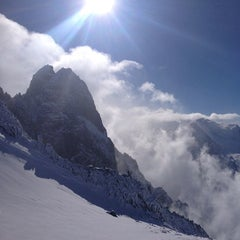 Photo taken at Les Grands Montets by Xav B. on 2/8/2013