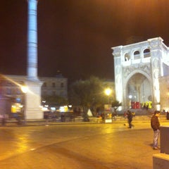 Photo taken at Piazza Sant'Oronzo by Marida D. on 11/13/2012