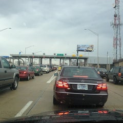 Photo taken at Toll Plaza 17 by Jeffrey D. on 4/6/2013