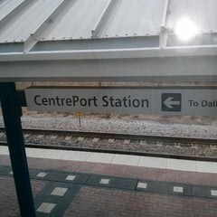 Photo taken at CentrePort / DFW Airport Station (TRE, DART bus, The T) by Tito on 3/23/2013