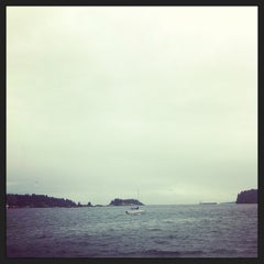Photo taken at Departure Bay Beach by Talia W. on 9/29/2013
