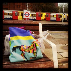 Photo taken at East Finchley London Underground Station by Chanda G. on 10/26/2012