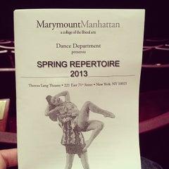 Photo taken at Marymount Manhattan College by William K. on 5/11/2013