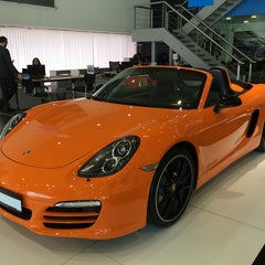 Photo taken at Porsche Showroom by Imran S. on 5/31/2014