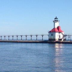 Photo taken at St. Joseph North Pier (at Tiscornia Park) by M-A on 5/30/2014
