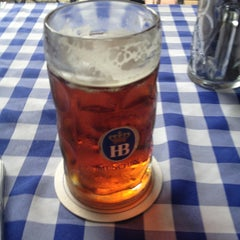 Photo taken at Hofbräu München Beer Hall by Megan S. on 6/6/2013