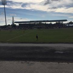Photo taken at Stadium Sungai Besar by Zulhusni Z. on 11/22/2015