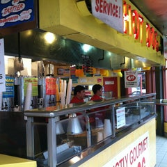 Photo taken at Gray's Papaya by Steven J. on 4/11/2013