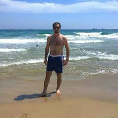 Photo taken at Platja del Miracle by kaan T. on 8/13/2015