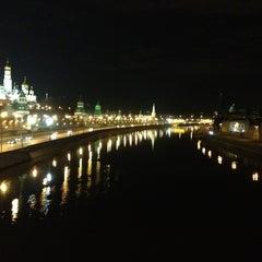Photo taken at Большой Каменный мост / Bolshoy Kamenny Bridge by Лера З. on 4/8/2013