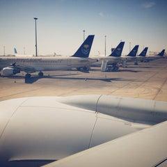Photo taken at King Abdulaziz International Airport (JED) مطار الملك عبدالعزيز الدولي by Rami B. on 4/21/2013