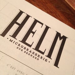 Photo taken at HELM Microbrasserie by Jean-Marc D. on 12/22/2012