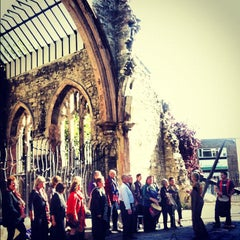 Photo taken at Holyrood Church (remains Of) by Víctor Manuel M. on 10/6/2012