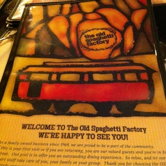 Photo taken at Old Spaghetti Factory by Kim D. on 1/17/2013