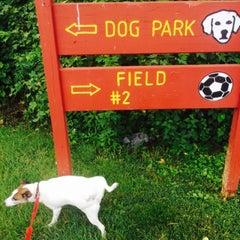 Photo taken at Oakton Dog Park by Linda H. on 7/18/2015