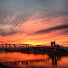 Photo taken at John A. Roebling Suspension Bridge by Steven P. on 1/8/2013
